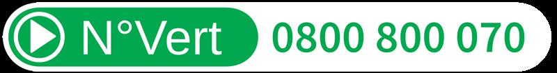 Numéro vert 0800 800 070